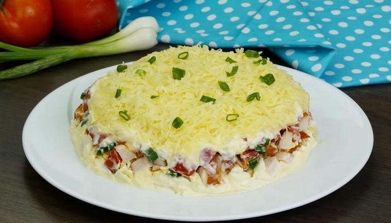 Простой, но изумительно вкусный салат «Минутка»