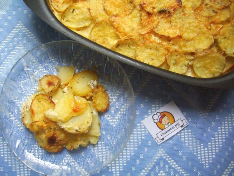 Картошка в сметане в духовке