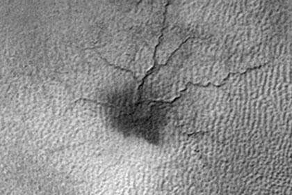 Рождение «марсианского паука» показали на видео