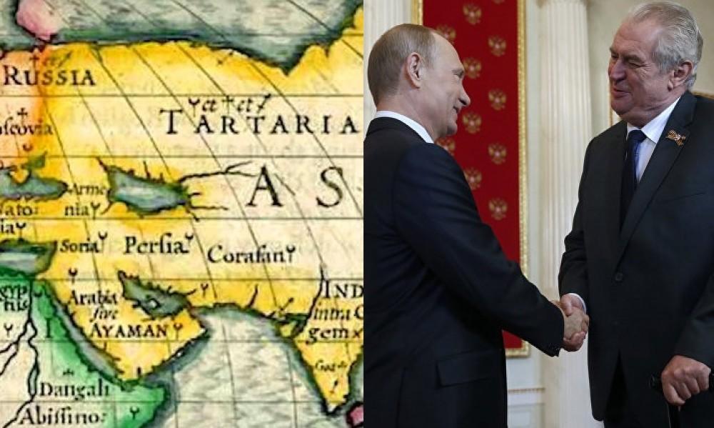 Путин подарил карту Тартарии бывшему президенту Татарстана