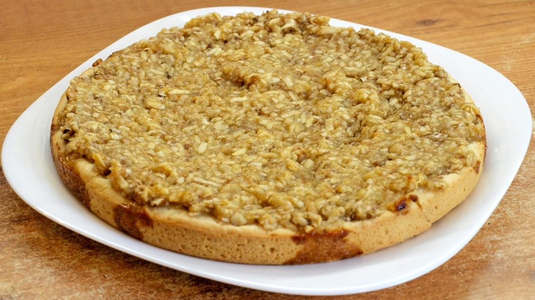 Ореховый пирог с яблоками - видео рецепт
