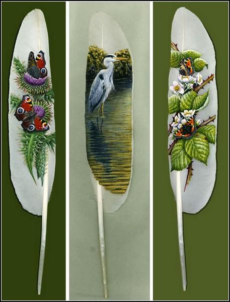 Рисовать картины на перьях - древнее искусство народа маори