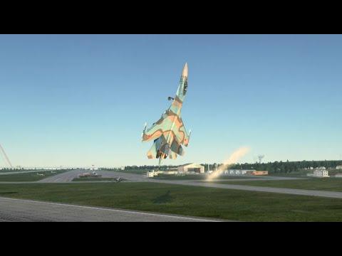 ЗаПредельная перегрузка... Кобра Пугачева на Су-27 с посадкой.