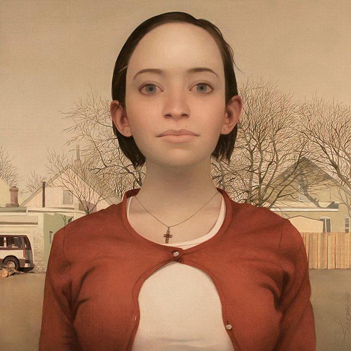 Портреты странных девушек Lu Cong