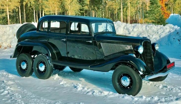 Уникальный шестиколёсный ГАЗ-25 выставили на продажу за 30 млн рублей
