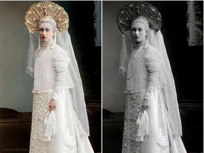 Грандиозные костюмы бала-маскарада в доме Романовых: раритетные снимки 1903 года – в цвете
