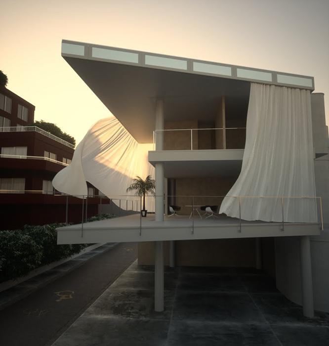 'Дом-занавес' в Токио