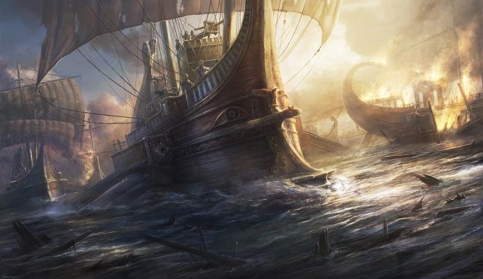 Римский корабль. Автор: Rado Javor.
