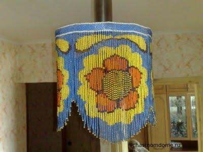 светильник из бисера схема