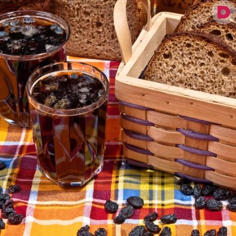 Квас душистый с мятой — рецепт приготовления