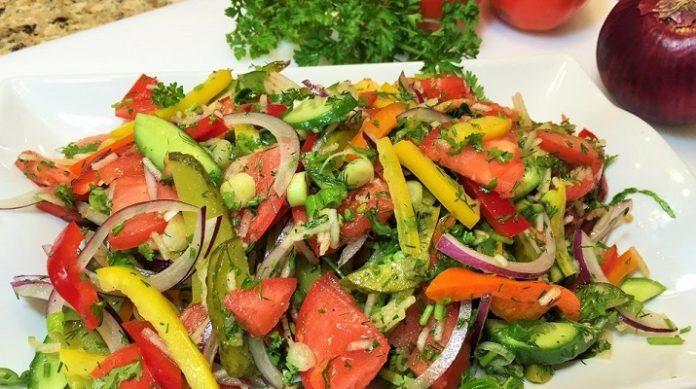 Очень вкусный витаминный салат
