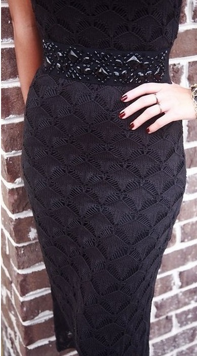 Красивый узор спицами для платья