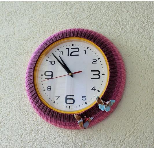 Рукодельные (в кубе) часы