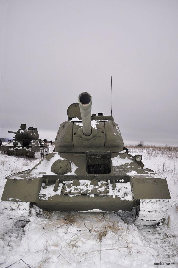 Последний день съемок на танковом полигоне