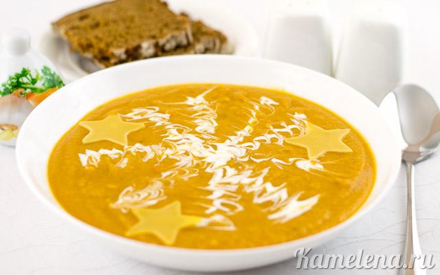 Вкусный, сытный, постный суп.
