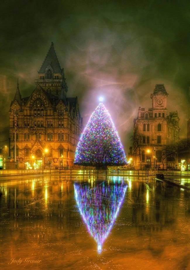 26 самых красивых и необычных рождественских ёлок со всего мира (27 фото)