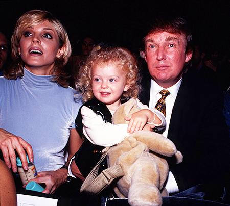 Дональд Трамп и Марла Мейплз с дочерью Тиффани