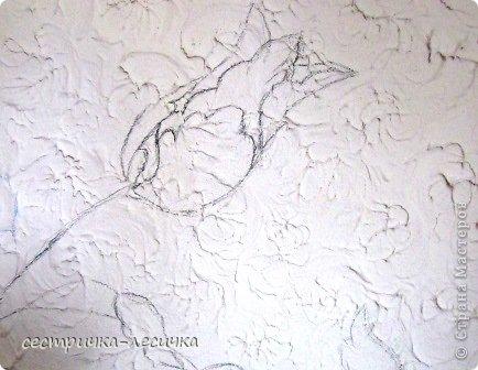 Интерьер Мастер-класс Лепка Лепка на стене №2 Бумага Гипс Краска фото 3