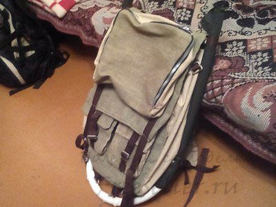 Самодельный рюкзак из брезента
