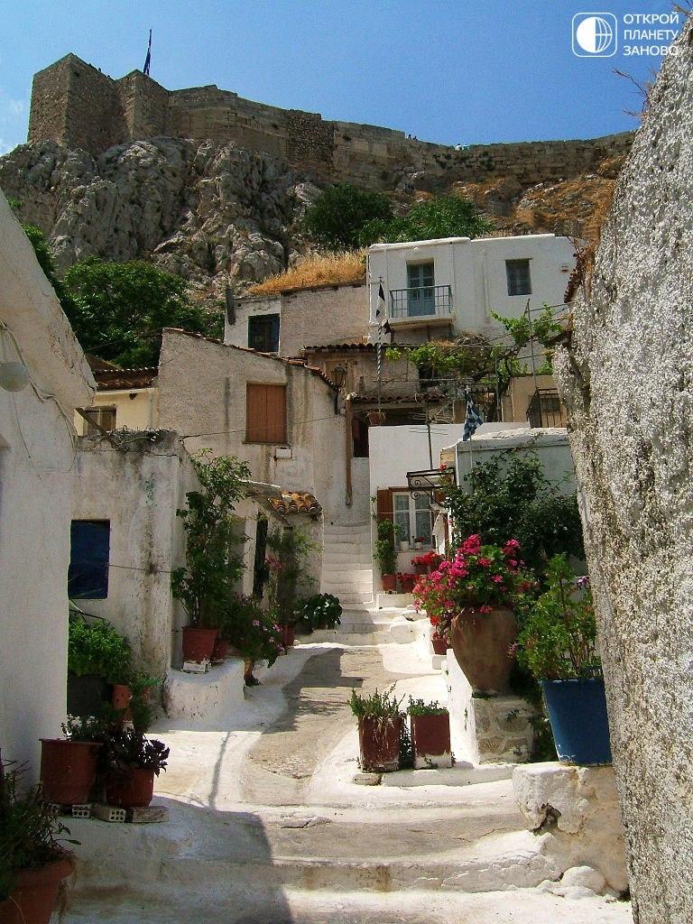 Анафиотика - остров, не окруженный морем. Греция