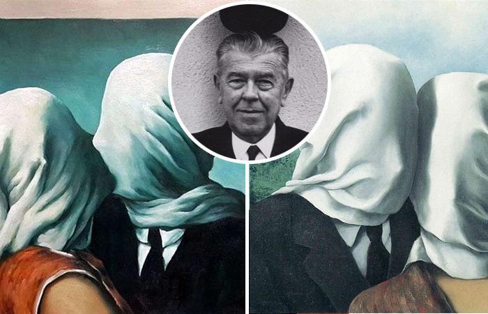 Загадка прикрытых лиц на картинах Рене Магритта «Влюбленные»