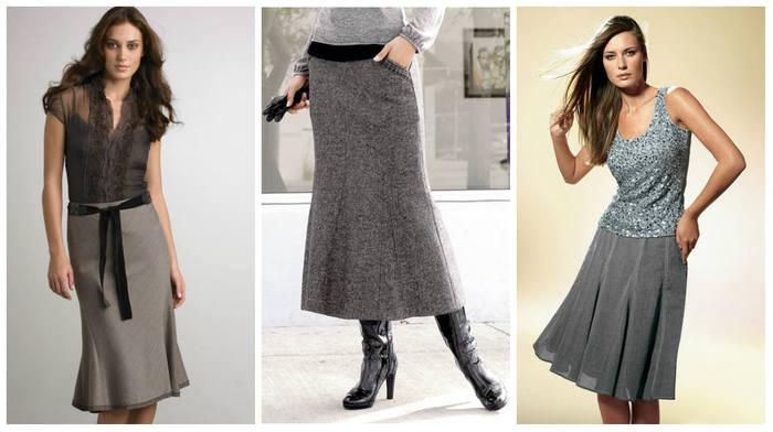 Выкройка и пошив юбки «годе»