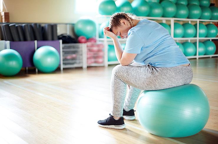 Причины, почему вес не уходит при занятиях спортом
