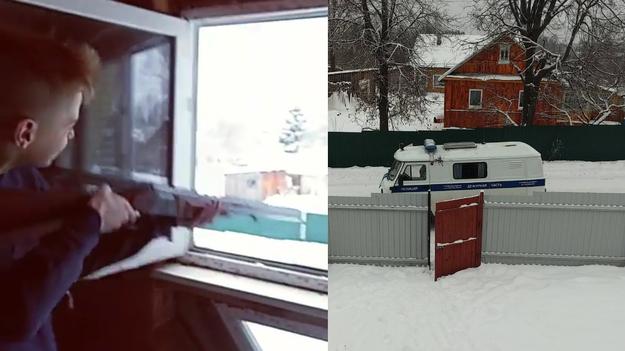 В сети появилось видео штурма дома Псковских школьников, стрелявших по полицейским