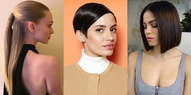 Модные женские причёски 2019: совершенная гладкость