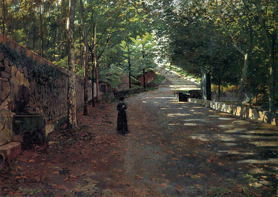 «Выйди в сад…» Испанский художник Santiago Rusinol i Prats (1861-1931)