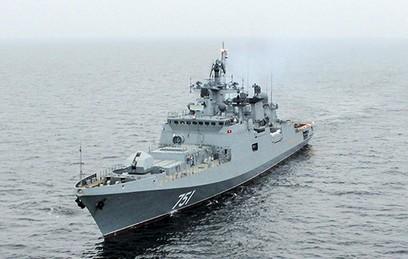 """Эсминец """"Адмирал Эссен"""" вернулся домой из боевого похода в Сирию"""