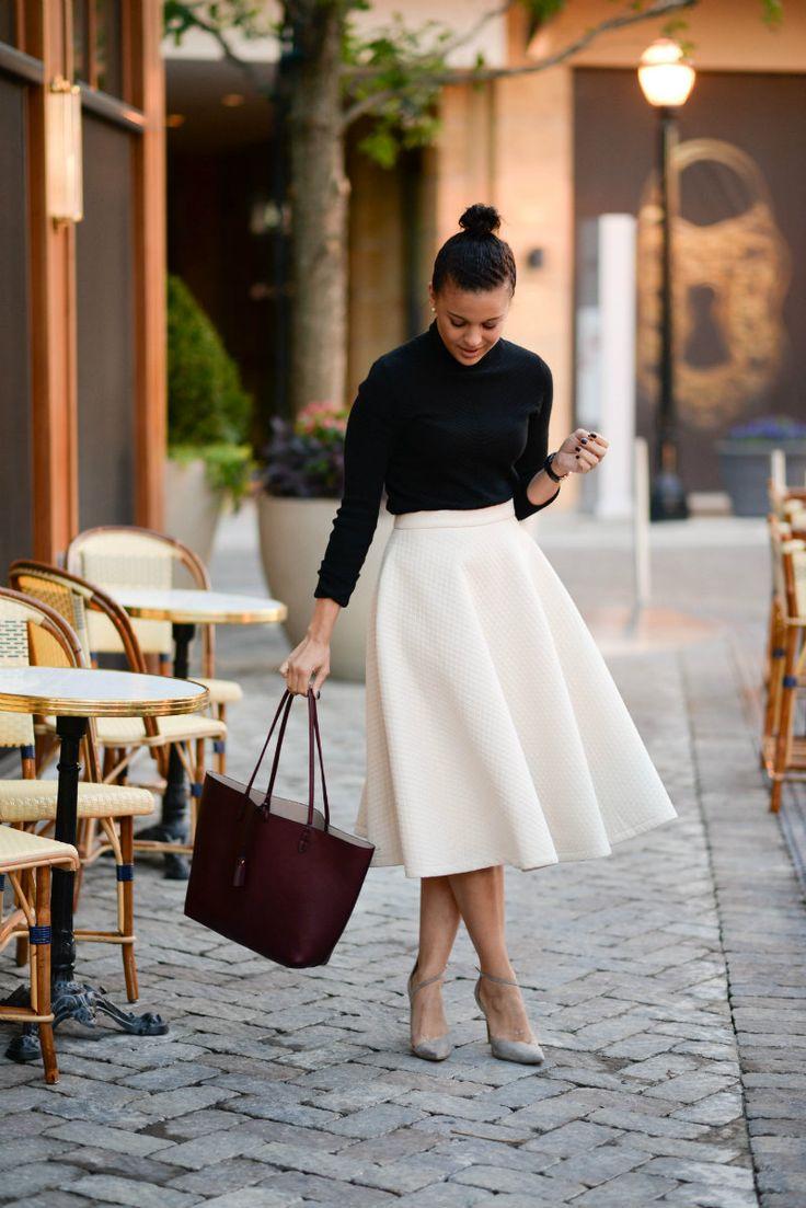 White Midi Skirt Amazoncom