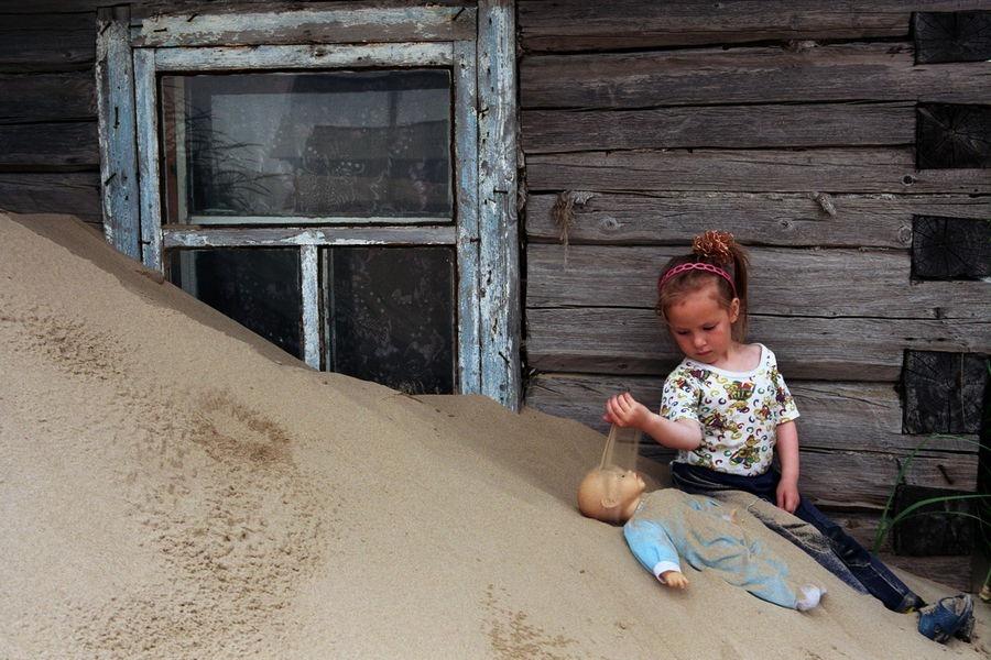 Русское село, заживо погребенное под песчаными дюнами