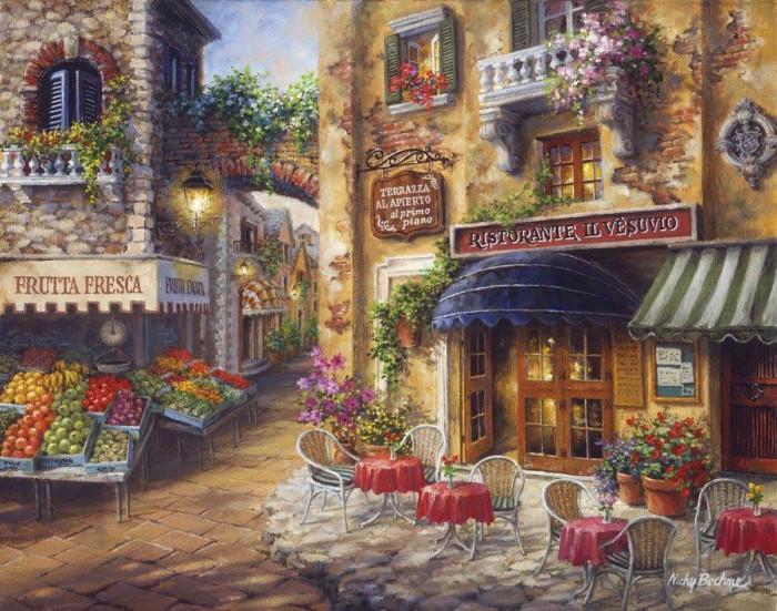 Уютный пейзаж художник NICKY BOEHME