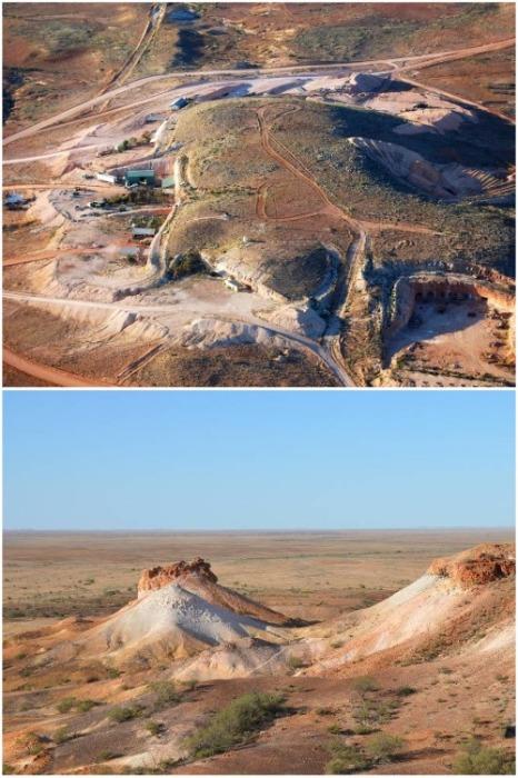 Пейзажи региона, где расположен подземный город Кубер-Педи (Австралия). | Фото: alexkolos.livejournal.com.