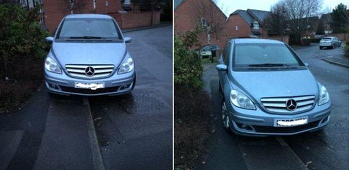 Устройство для борьбы с любителями парковаться на тротуаре придумали в Англии