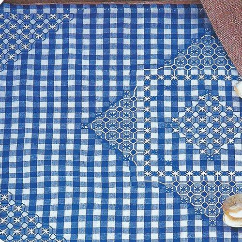 Вышивка для ткани в клеточку