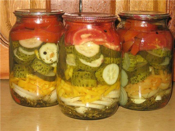 Салат на зиму слоями