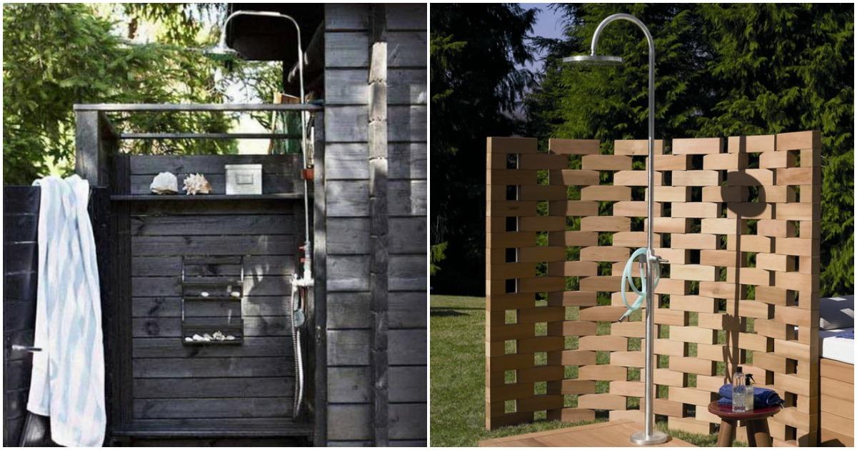 Садовый душ — островок свежести на вашей даче
