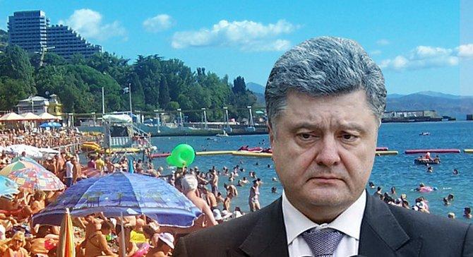 В Крыму предложили поставить  памятник Петру Порошенко