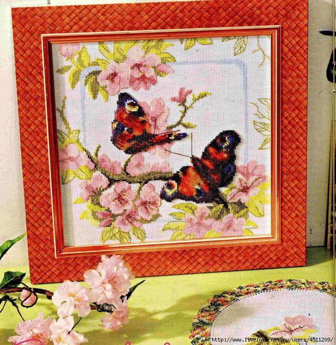ВЫШИВАЙКА. Бабочки в цветах