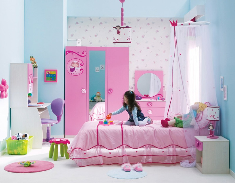 Стенка в детскую для девочек