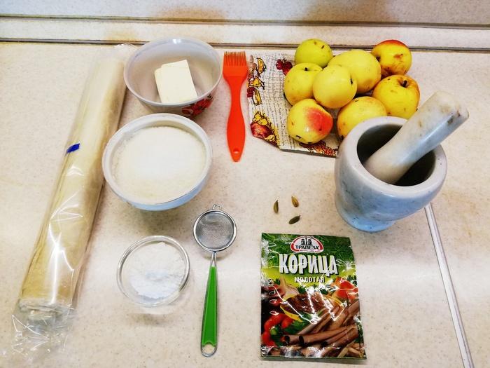 Яблочный штрудель из теста фило Выпечка, Рецепт, Еда, Десерт, Кулинария, Тесто, Пирог, Вкусно, Видео, Длиннопост