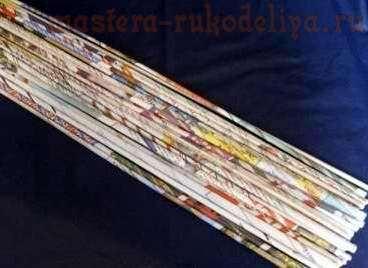 Видео мастер-класс по плетению из газет: Крутим трубочки дрелью