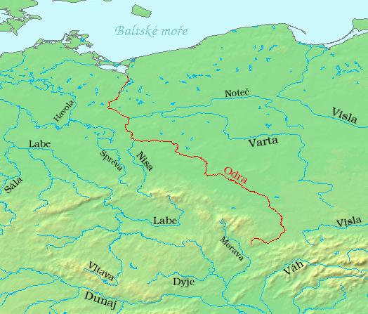 Odra-mapa