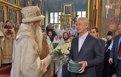 Собянин поздравил предстоятеля РПСЦ Корнилия с Днем ангела
