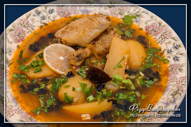Густой суп бозартма - блюдо азербайджанской кухни