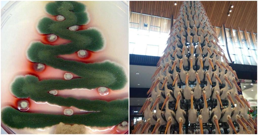 20 самых необычных и креативных новогодних елок