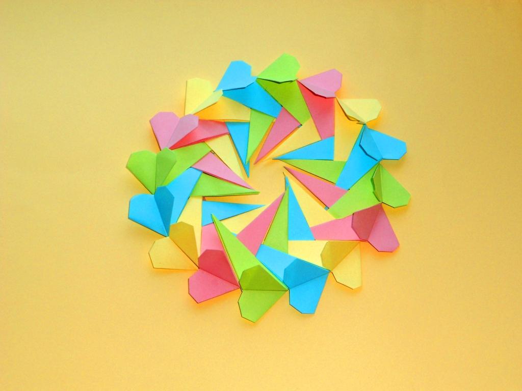 Валентинка Оригами подарок н…