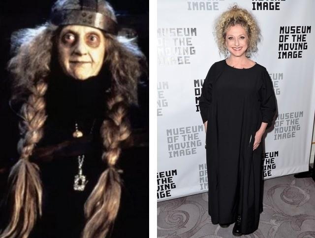 Бабушка (актрисаКэрол Кейн) семейка аддамс, тогда и сейчас, фото